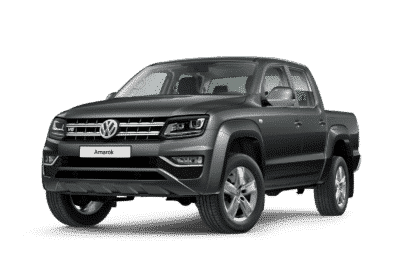 Vorderansicht vom VW Amarok in indium grey