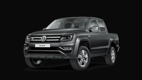 Vorderansicht vom VW Amarok in indium grey