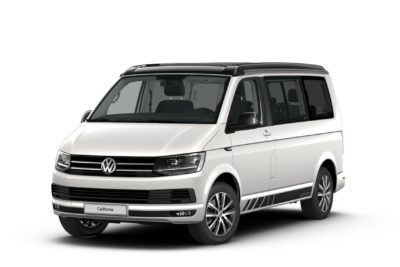 Vorderansicht VW T6 California Beach Edition in candy white