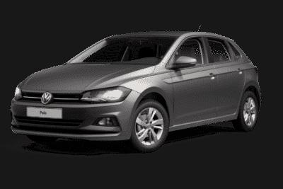 Seitenansicht vom VW Polo Comfortline in grau