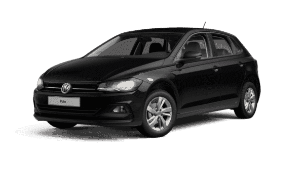 Seitenansicht VW Polo Comfortline in schwarz