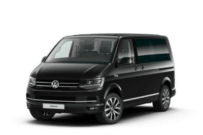 Vorderansicht VW T6 Multivan Highline in deep black
