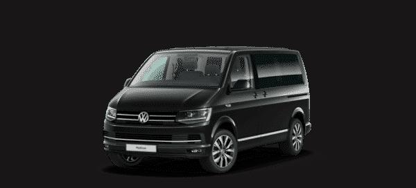 Vorderansicht VW T6 Multivan Highline in deep black