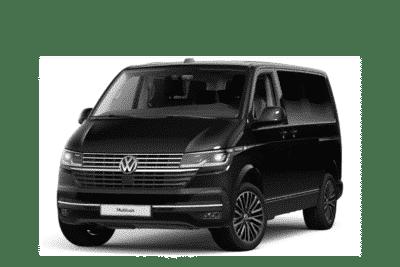 VW Multivan T6.1 in schwarz Vorderansicht