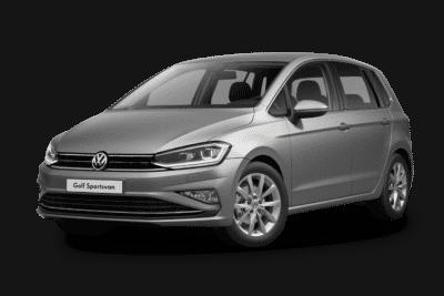 VW Golf Sportsvan in tungsten silver